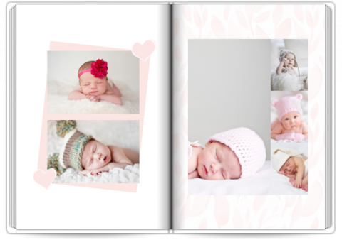 Photo Book Deluxe 8x11,5 inches Baby Birth