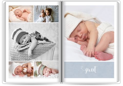 Photo Book Deluxe 8x11,5 inches Sweet Angel - Blue