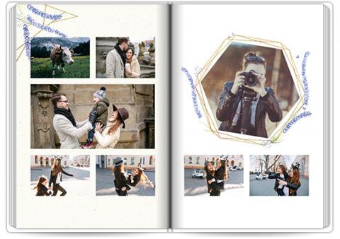 Livre Photo Premium A4 Vertical Lavande