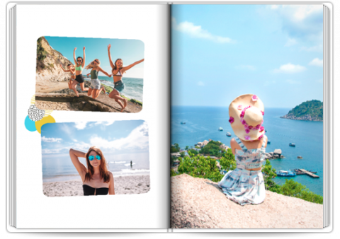 Photo Book Deluxe 8x11,5 inches Travel Vibe