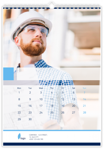 Photo Calendar 20x30 (A4 Portrait) Corporate