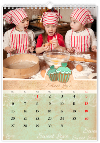 Photo Calendar 8x12 inches Stationery