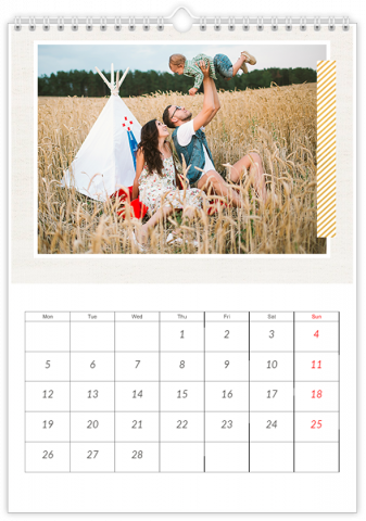 Photo Calendar 30x45 (A3+ Portrait) Happy Family