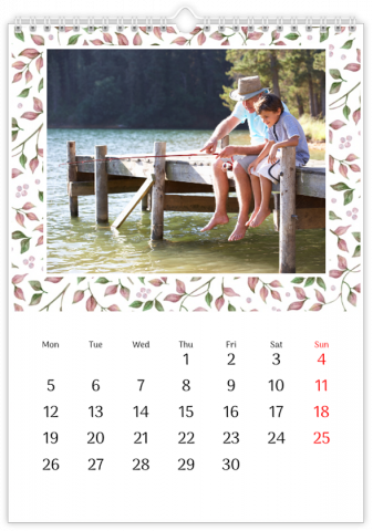 Photo Calendar 30x45 (A3+ Portrait) Floral Year