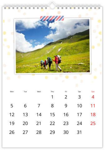 Photo Calendar 30x45 (A3+ Portrait) Letter