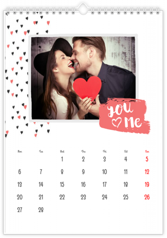 Photo Calendar 30x45 (A3+ Portrait) Love is Everywhere