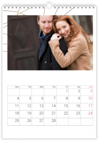 Photo Calendar 30x45 (A3+ Portrait) Lovely Lines