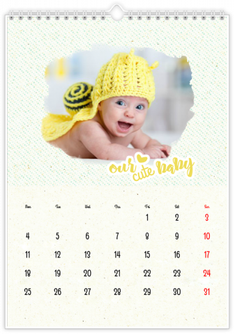 Photo Calendar 30x45 (A3+ Portrait) My Little Love