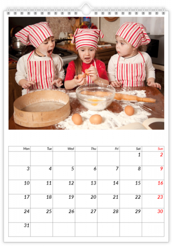 Photo Calendar 30x45 (A3+ Portrait) Notebook