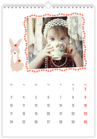 Photo Calendar 12x18 inches Our Lullaby