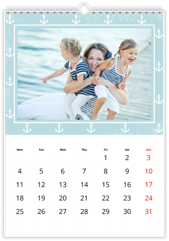 Photo Calendar 30x45 (A3+ Portrait) Patterns