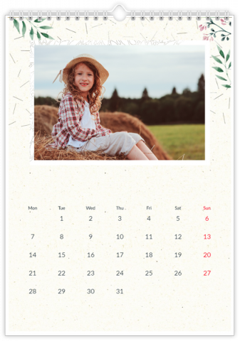 Photo Calendar 30x45 (A3+ Portrait) A gift for Grandparents