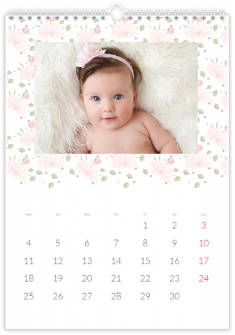 Photo Calendar 30x45 (A3+ Portrait) Made from Roses