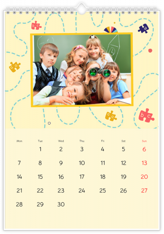 Photo Calendar 30x45 (A3+ Portrait) Sweet Kids