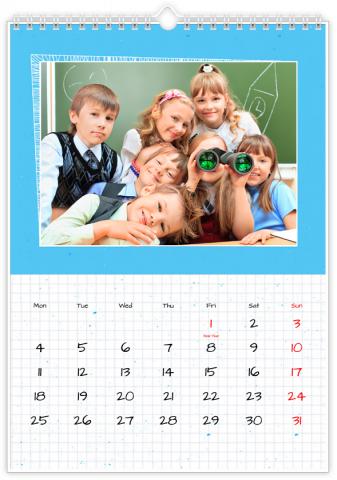 Photo Calendar 30x45 (A3+ Portrait) School Note