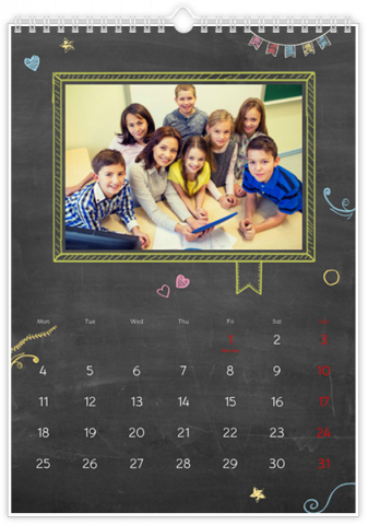 Photo Calendar 30x45 (A3+ Portrait) School Board