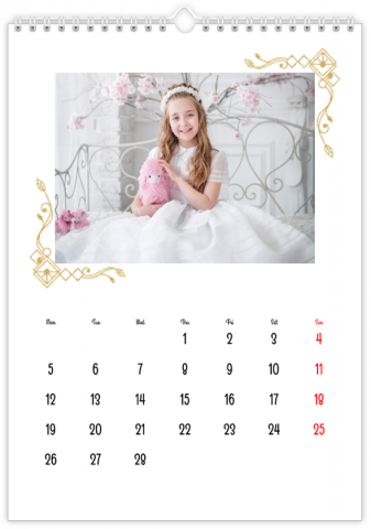 Photo Calendar 30x45 (A3+ Portrait) In White