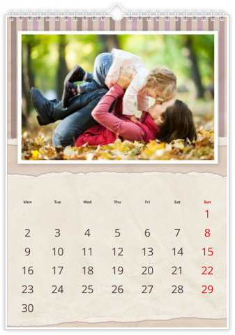 Photo Calendar 30x45 (A3+ Portrait) Plaid