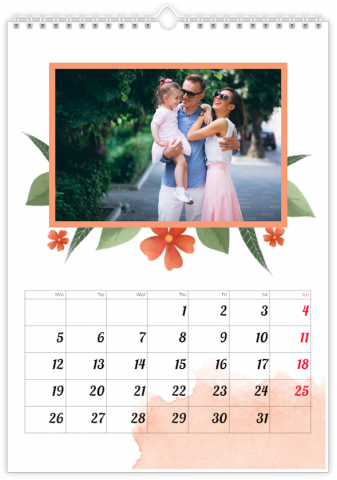 Photo Calendar 12x18 inches Full of Flowers