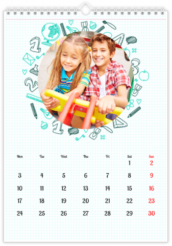 Photo Calendar 30x45 (A3+ Portrait) Exercise Book