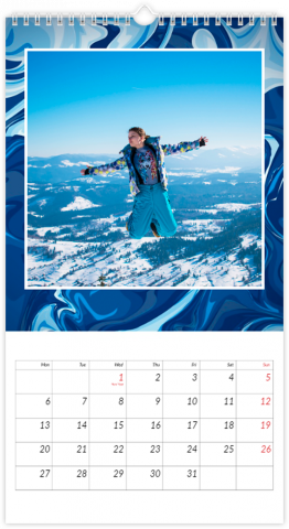 Photo Calendar 33x60,5 (XL) Blue Lagoon