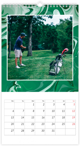 Photo Calendar 13x24 inches Green Smoothie