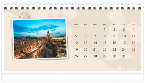 Photo Calendar Desk 21x12 (A5) Adventure