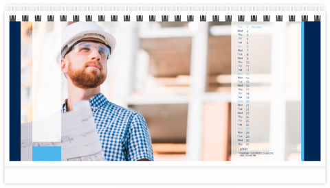Photo Calendar Desk 21x12 (A5) Corporate