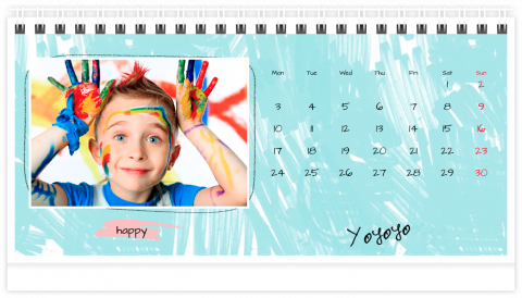 Photo Calendar Desk 8x5 inches School