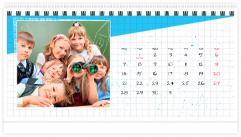 Photo Calendar Desk 21x12 (A5) School Note