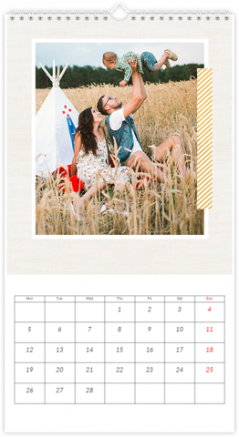 Photo Calendar 33x60,5 (XL) Happy Family