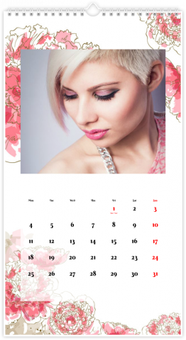 Photo Calendar 33x60,5 (XL) FLEURS