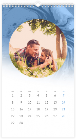 Photo Calendar 33x60,5 (XL) Blue Marble