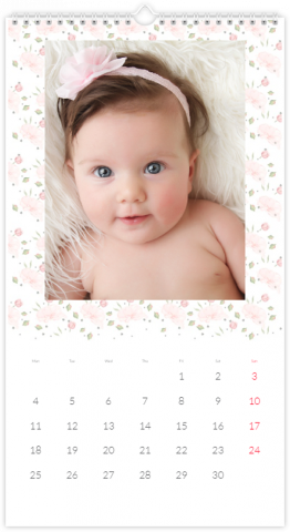 Photo Calendar 33x60,5 (XL) Made from Roses
