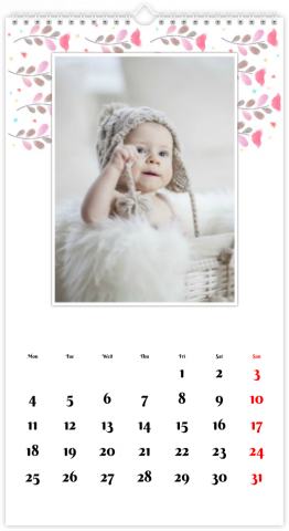 Photo Calendar 33x60,5 (XL) Colourful Folk