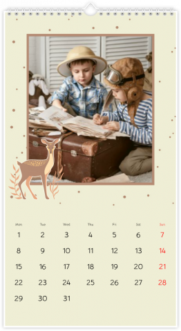 Photo Calendar 13x24 inches Woodland Story