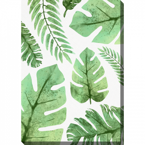 Vertical Watercolour Leaves