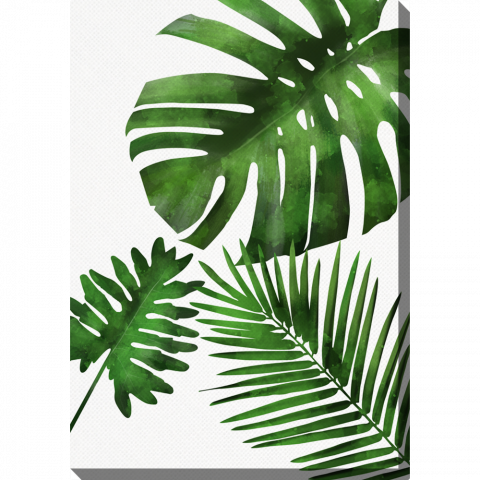 Vertical Palm Leaves