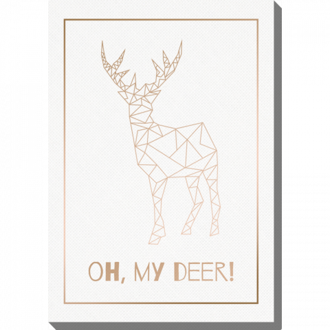 Vertical Deer Gold