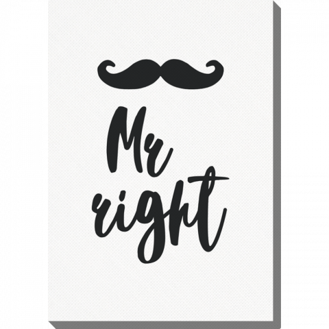 Vertical Mr. Right Moustache