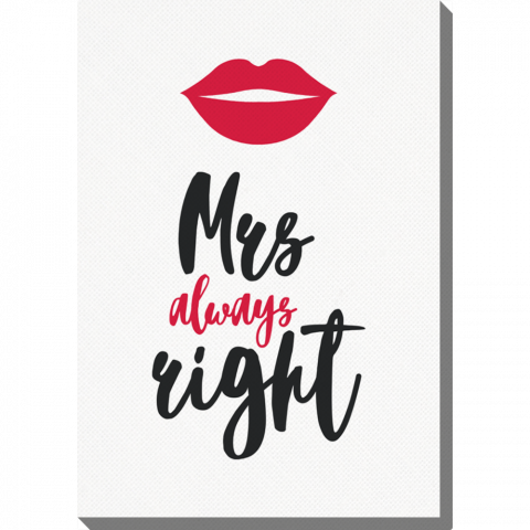 Vertical Mrs. Right Lips
