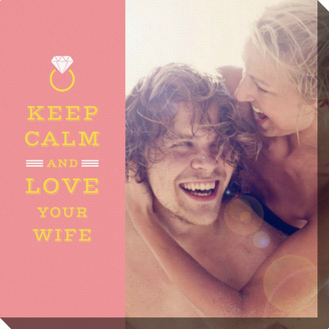 Square Keep Calm and Love Your Wife