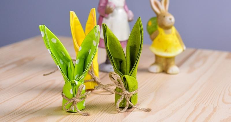 Decorazioni Pasquali Da Tavola : Un coniglietto pasquale in versioni decorazioni per la tavola