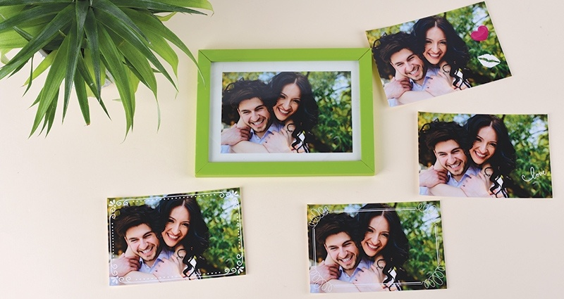 Personalised photo prints 10x15 cm, one picture in the frame