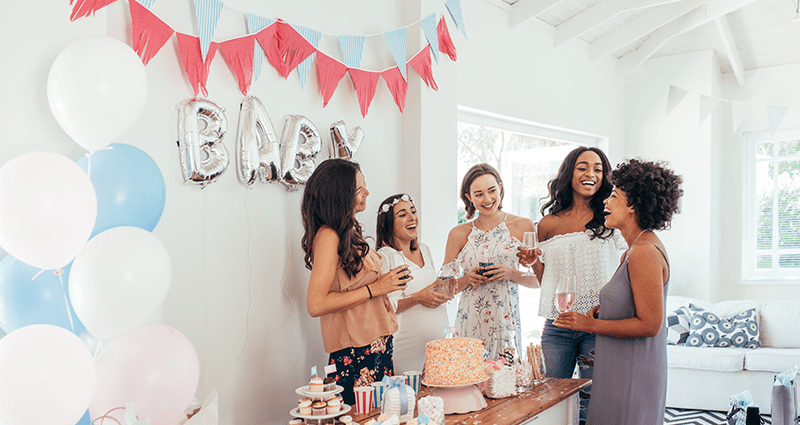 Young women at a baby shower